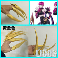 5pcs/set KDA Evelynn EVA Finger Paws Claw Gold Nail EVA Weapon Prop Anime Cosplay Accessories for Halloween Party
