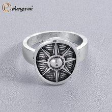 d7e8c9e01cc6 CHENGXUN escudo vikingo nórdico anillo para hombres Scandinavian Shield  amuleto antiguo hecho a mano joyería boda fiesta regalo .