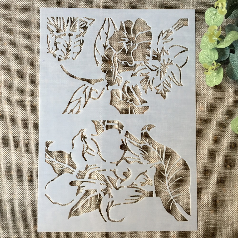 29*21cm Flowers DIY Layering Stencils Wall Painting Scrapbook Coloring Embossing Album Decorative Paper Card Template