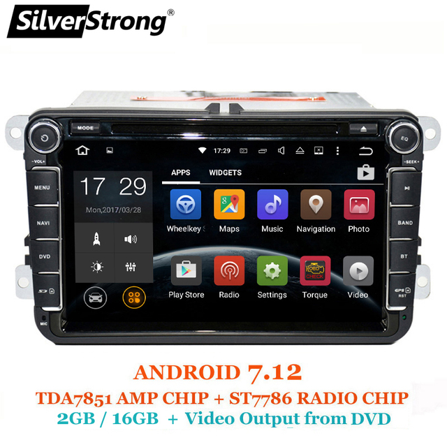 SilverStrong Android7.12 Jetta Car DVD for Volkswagen Golf mk6 5 Polo Tiguan Passat B6 5 cc for skoda octavia fabia 801x3