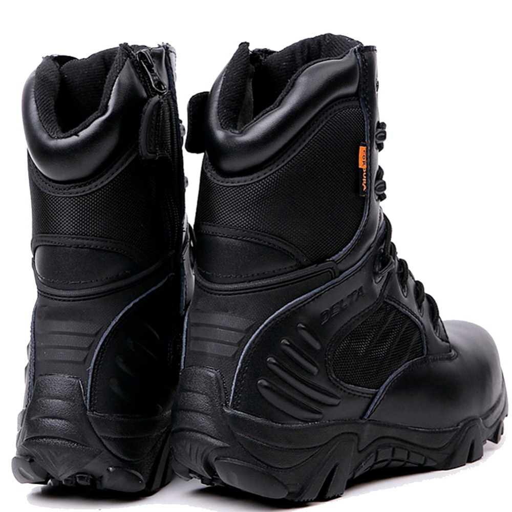tactical army boots for men winter genuine leather