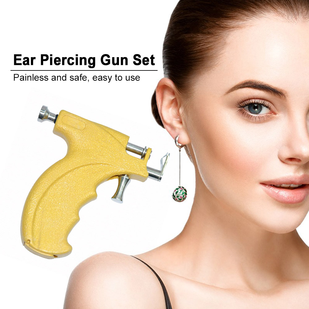 Ear Piercer Gun Set Safety Ear Nose Navel Body Piercing Gun Kit Set Ear Piercing Tool Ear Care Piercing Tools Drop Shipping in Ear Care from Beauty Health