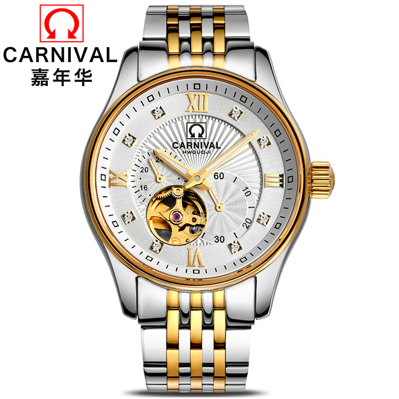 Men's Watches Automatic Mechanical Watch Tourbillon Clock Leather Casual Business Watch Top Brand Sports Watch Relogio Masculino