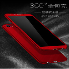 360 Full Protection PC Hard Cases For OPPO A57 A53 A71 A83 cover A77 A59 A79 A37 A33 Matte Back coque with Glass Film