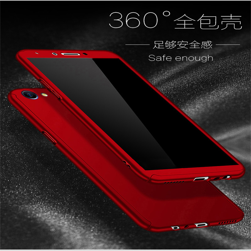 360 Full Protection PC Hard <font><b>Cases</b></font> For <font><b>OPPO</b></font> A57 A53 A71 A83 cover For <font><b>OPPO</b></font> A77 A59 A79 A37 <font><b>A33</b></font> Matte Back coque with Glass Film image
