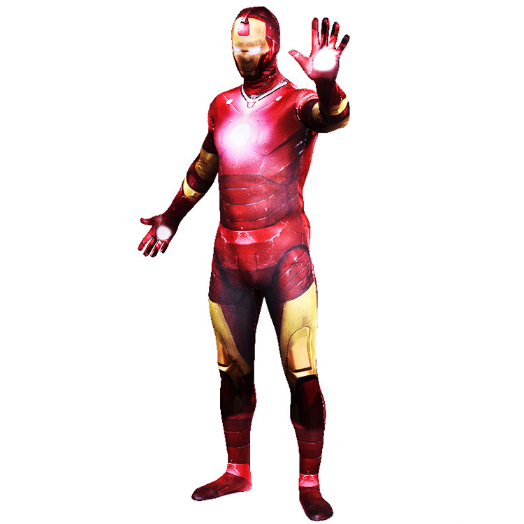 Cosplay Manga Anime Vengeance Alliance IronMan Tights Ironman CostumeAdult Zentai Halloween Full Body Lycra Unitard Women