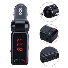 BC06 LED Digital Sin Hilos de Bluetooth Fm Del Modulador Del Transmisor de Radio FM Manos Libres Estéreo Adaptador 2.1A Dual USB Car Charger Puerto
