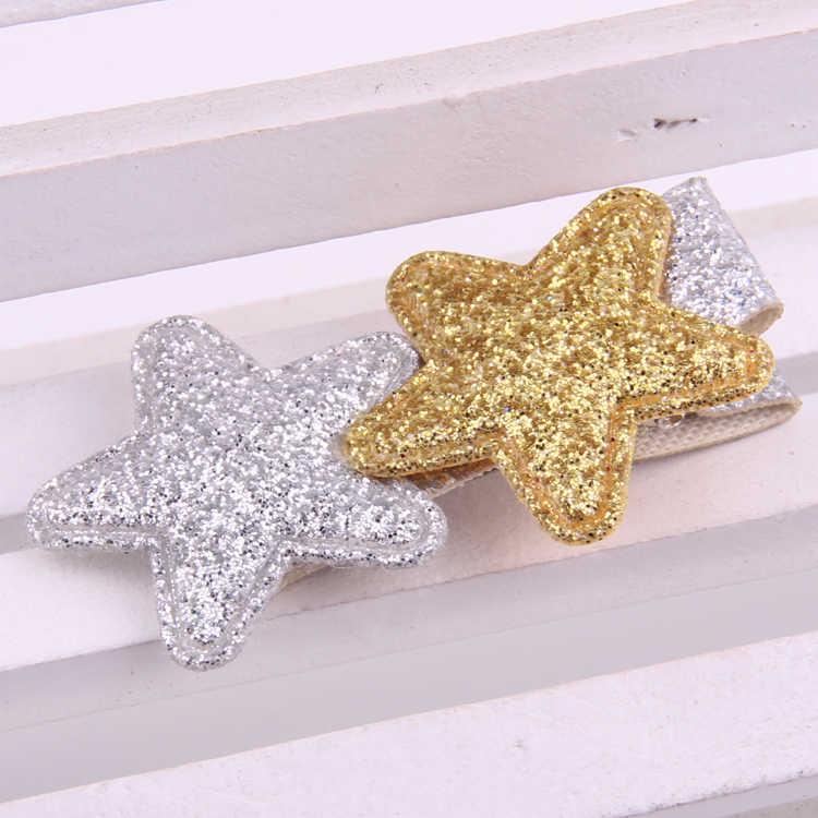 Миленькие шпильки для девочек, мини-заколки для волос со звездами, для малышей, хорошее качество, искусственная кожа, Золотая Сила, ткани, орнамент, заколки, ручная работа, доступ для волос