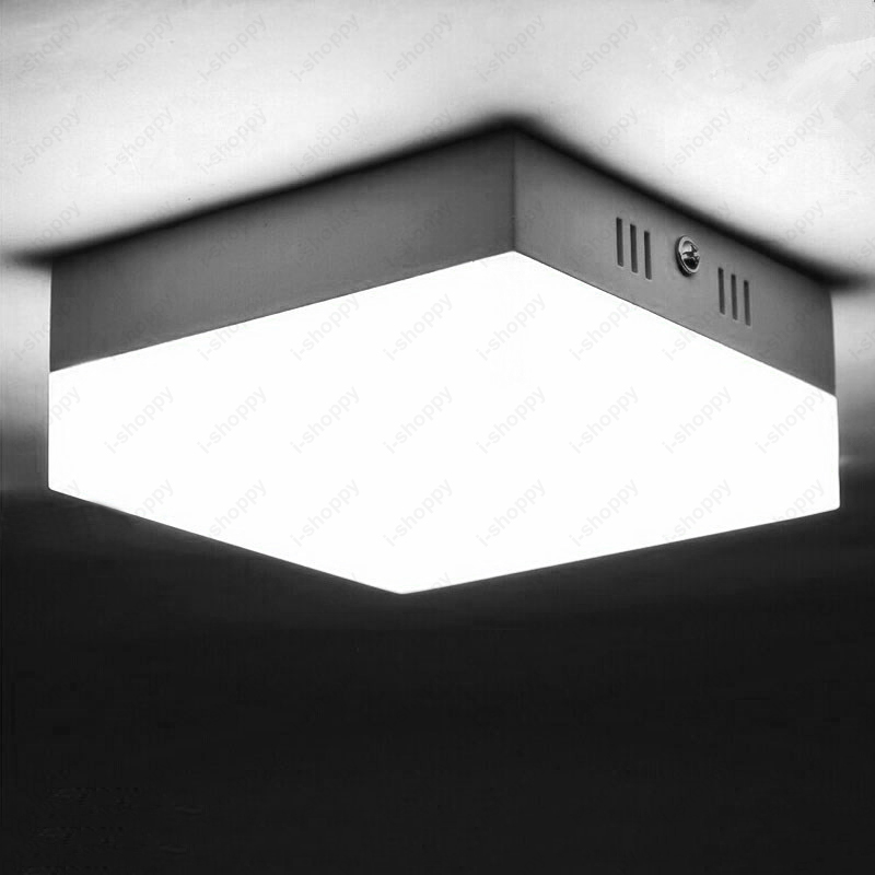 ZYY  Square 6W/12W/18W/24W Ceiling Light Acrylic SMD 2835 Downlight Ultra-thin Lamp White Shell Aisle Office Lobby Hotel dhl ship 18w surface mounted led downlight round panel light smd ultra thin circle ceiling down lamp kitchen bathroom lamp