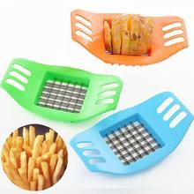 цена на 1 PC Stainless Steel French Fry Fries Cutter Peeler Potato Chip Vegetable Slicer Cooking Tools random color