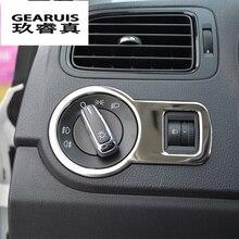 Автомобильный Стайлинг выключатель фар декоративный каркас украшения Чехлы наклейки Накладка для Volkswagen vw POLO интерьер авто аксессуары