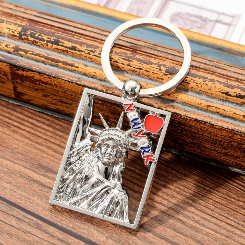 Vicney Love New York llavero de aleación de Zinc Estatua de la libertad llavero de joyería de moda accesorios llavero para llavero de amigo clave