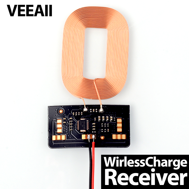 VEEAII DIY QI Wireless Receiver PCBA 5W 5V1A Wireless Charger Receiver for Lightning iPhone Android Phones
