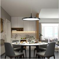 L Modern restaurant chandelier simple fashion designer's lamp single head creative round black study room led dining room lamp