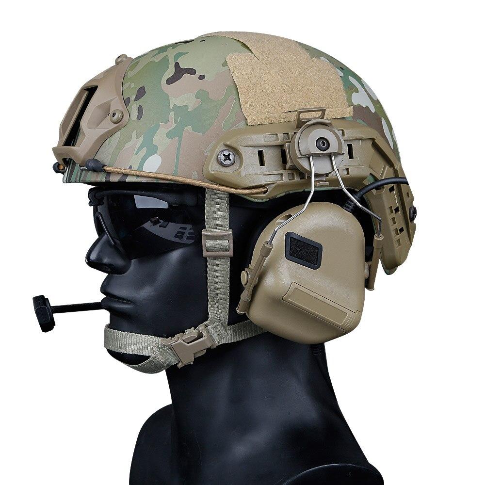 Tactical Helmet Headset with Fast Helmet Rail Adapter Peltor Comtac Headset Outdoor Shooting Military Headphone