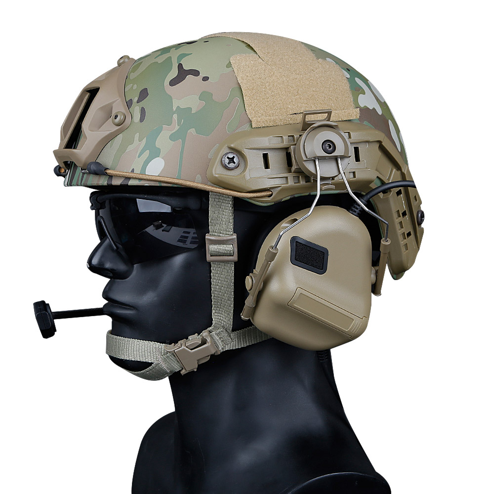 Tactical Helmet Headset With Fast Helmet Rail Adapter Peltor Comtac Headset Outdoor Shooting Military Headphone