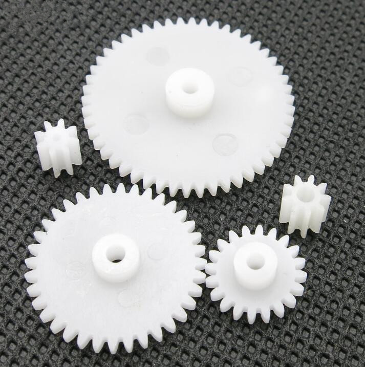 5 Pcs/lot 0.5 Modulus White Plastic Gear Mini Transmission Gear For Diy Mini Gearbox And Toy Model
