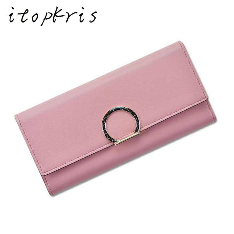 Itopkris Fashion Female Leather Long Wallet Women Purse Clutch Card ID Holder Large Capacity Rfid Wallet For Girl  Money Pocket pu leather rfid card case badge plastic id card holder for employee fair 10pcs lot