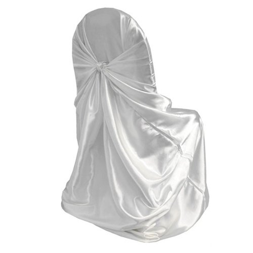 Durable Universal Self Tie Chair Cover Wedding Event Party Decorations Holiday White 110x140cm