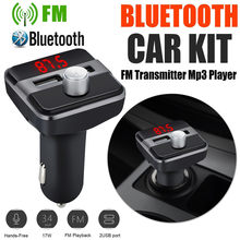 Wireless Bluetooth Car Mp3 Player Fm Transmitter Radio Lcd 2 Usb Hands Call Free Car Accessories #LR4(China)