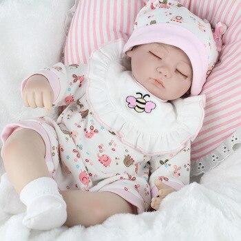 NPK45cm full body Silicone reborn Baby Doll Girl Newbron Lifelike Princess Doll Birthday Girl Gift Bonecas Bebe Reborn Menina
