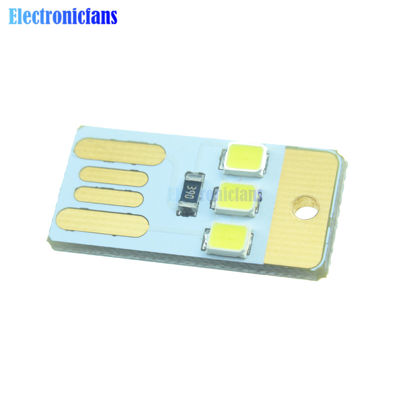 Integrated Circuits 100pcs Mini Night Usb Led Keychain Portable Power White Board Pocket Card Lamp Bulb Led Active Components