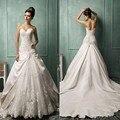 2017 Новый Амелия Sposa Милая Royal Свадебные Платья узелок Аппликации Часовня Поезд Сад Свадьбу Арабский Обычай