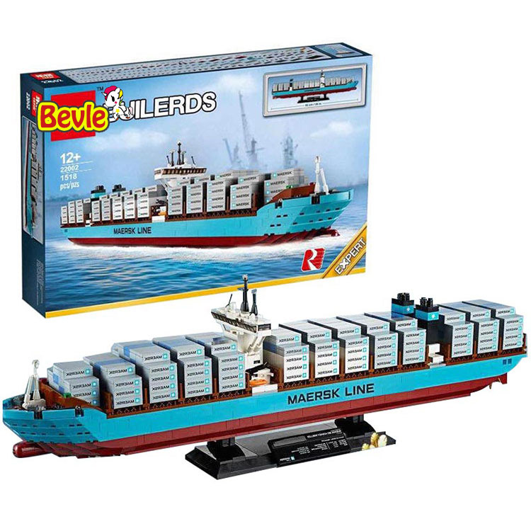 Lepin 22002 1518Pcs Technic Series The Maersk Cargo Container Ship Set Educational Building Blocks Bricks Model Toys Gift 10241 lepin 22002 1518pcs the maersk cargo container ship set educational building blocks bricks model toys compatible legoed 10241