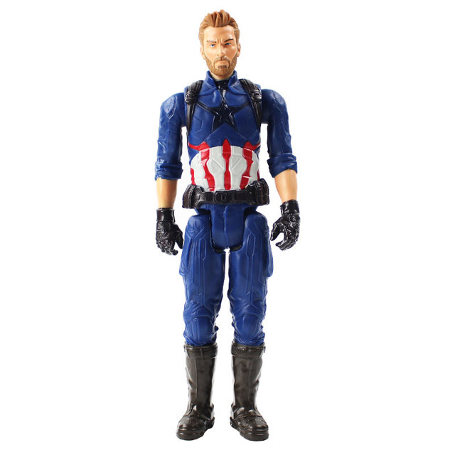 29cm Marvel Avengers 3 Super Hero Hulkbuster Thanos Iron Spider Man Black Panther Captain America Iron