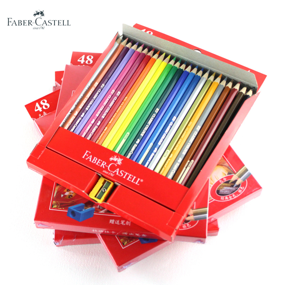 faber castell 48 colors oil colored pencil high quality germany imported set for art school. Black Bedroom Furniture Sets. Home Design Ideas