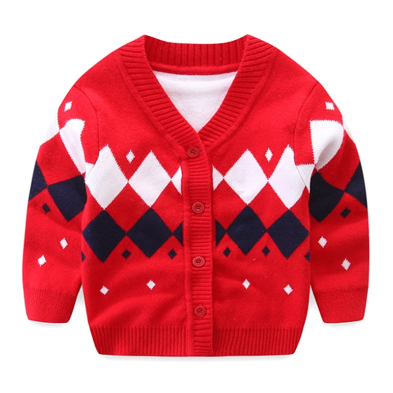 Plaid Baby Boys Sweaters Long Sleeve Newborn Sweaters Knitted Cotton Baby Cardigan Sweater 2017 Autumn Winter Baby Boys Clothing (21)