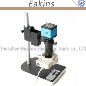 14MP HDMI микроскоп камера для промышленная лаборатория PCB USB выход TF карта видео рекордер + 100X C-Mount объектив + 56 светодиодный светильник