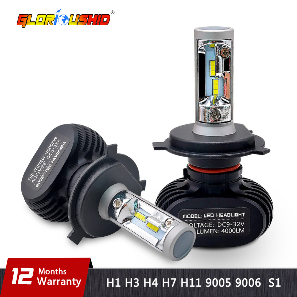2PCS H4 led H7 H11 H1 H3 9005 9006 Car Led Headlight 50W 8000lm CSP Chips Automobile Headlamp Fog Light Bulb 6500k White