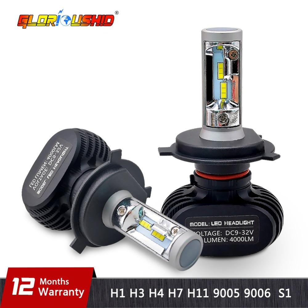 2 STKS H4 led H7 H11 H1 H3 9005 9006 Auto Led-koplamp 50 W 8000lm CSP Chips Automobielkoplamp Mistlamp 6500 k Wit