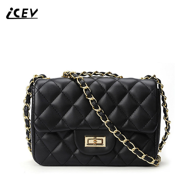 ICEV New Fashion Cute Quilted Women Messenger Bags Handbags Women Famous Brands Chains Ladies Shoulder Bag Candy Color Bolsa Sac 2015 women cute bow candy color handbags ladies messenger shoulder crossbody bags mini small quilted chain bags bolsas ba048