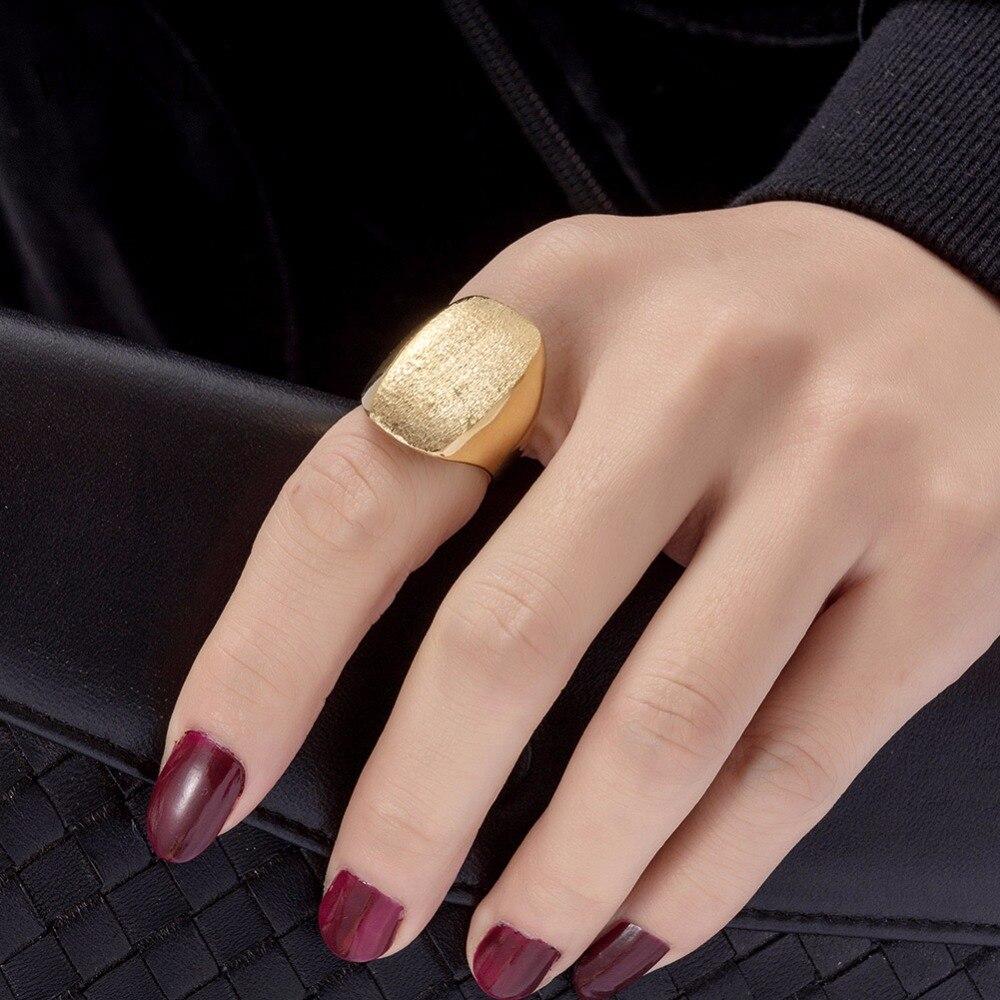 50c0d542a2e9 WANDO gran anillo Etiopía anillo de oro para las mujeres niñas mate ...