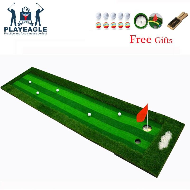 цена на Golf Putting Mat Indoor Outdoor Backyard Golf Green Residential Training Hitting Practice Golf Putting Golf Putting Mat