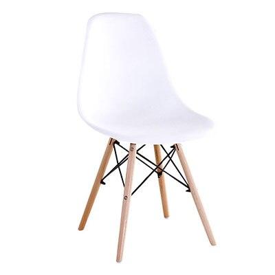 Полипропилен Дерево DIY обеденный стул современный дешевый обеденный бар встречи гостиная Кофейня бук деревянный стул Лофт стулья мебель для дома - Цвет: HH381300WH