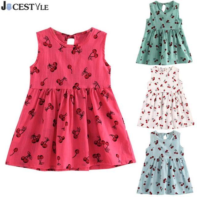 6e2a7bb61 JOCESTYLE Cute Summer Children Girls Dress Cherry Fruit Printed ...