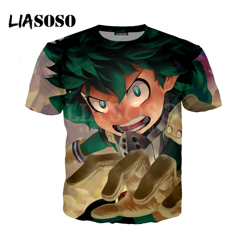LIASOSO NEW Anime Boku No Hero My Hero Academia Cosplay Tees 3D Print t shirt/Hoodie/Sweatshirt Unisex Good Quality Tops G1372
