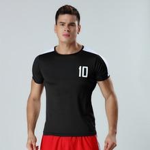 New breathable retro models mens Soccer Jersey self-cultivation short-sleeved running T-shirt basketball football HS