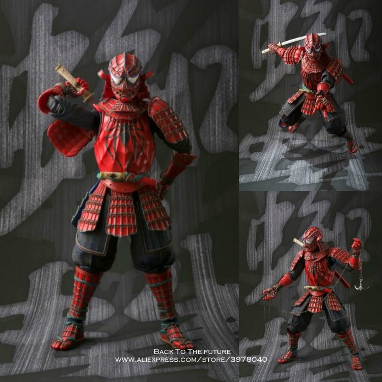 Disney Marvel Ninja warrior Spiderman 18cm Action Figure Anime Mini Decoration PVC Collection Figurine Toy model for children
