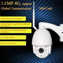 ZILNK Speed Dome Camera PTZ 960P HD 3G/4G/WIFI P2P Network 5x Zoom Lens IR Night Outdoor Security Camera