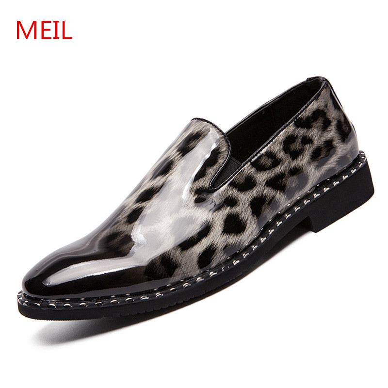 MEIL Patent Leather shoes men Loafers Moccasins Wedding Dress Men 39 s Flats Gentlemen Casual Shoes zapatos de hombre chaussure in Men 39 s Casual Shoes from Shoes