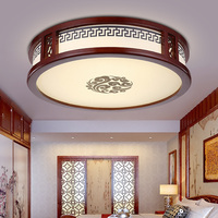 ceiling lamp led art Xiangyun living room round simple master bedroom warm classical solid wood sheepskin ceiling light wl326170|living room lamp|room lampliving lamp -