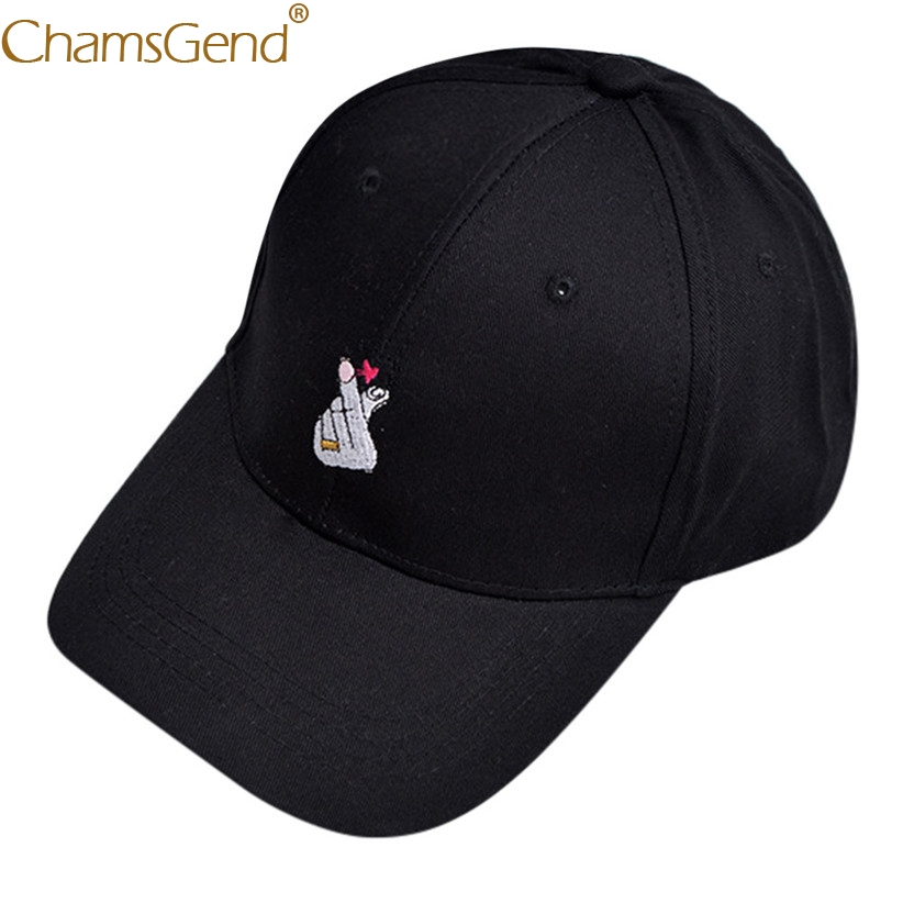 Embroidery Finger Heart Gesture Hat Unisex Solid Color   Baseball     Caps   Adjustable Hip Hop   Cap   Women Men Dad Hats 90214