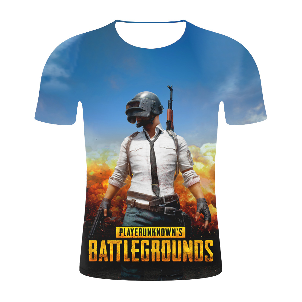 02690e7d31b4a Горячая игра PUBG Мужская 3D футболка/wo для мужчин Aikooki Мода Playerunknown's  Battlegrounds Мужская футболка