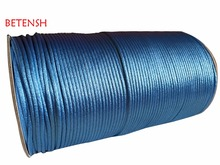 2.5mm Lt  blue Nylon Cord Rattail Satin Macrame Rope Shamballa Bracelet String Accessories+250m/Roll Chinese Knot Beading cords