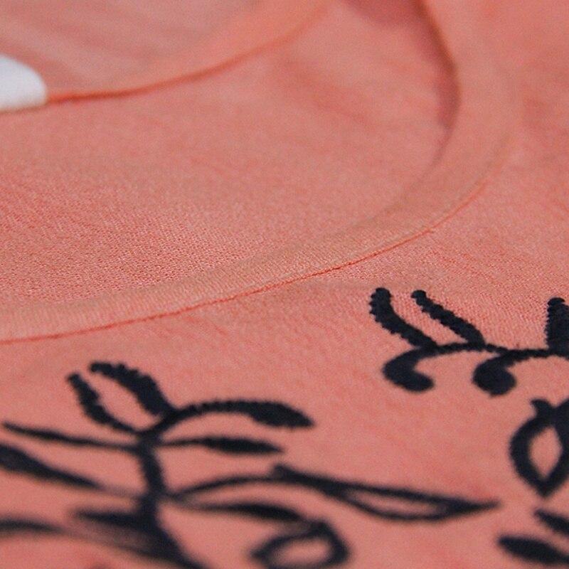 Taille À Haute Robes Rétro Femme Manches 2018 Asymétrique Broderie Robe Courtes Apricot Vintage Floral D'été Qiaowa Keer orange Femmes pzxqwn6