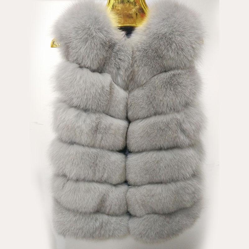 De 04 Épais Renard D'hiver 01 Réel Super Fourrure Naturel Cuir Manteau Gilet Vêtements 03 Veste Femmes Fille En 02 Véritable wqtdXxTd1